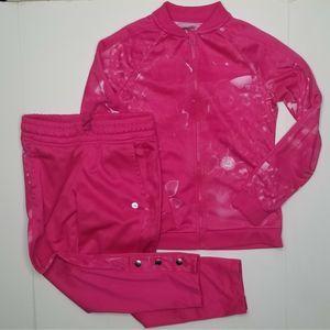 AVIA Girls Pink Bomber Track Suit Set Size 6-6X
